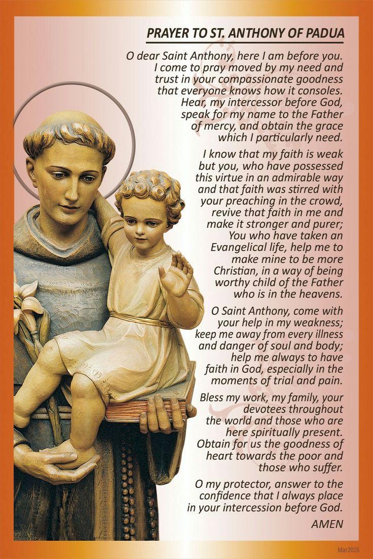 ~Prayer to St. Anthony of Padua