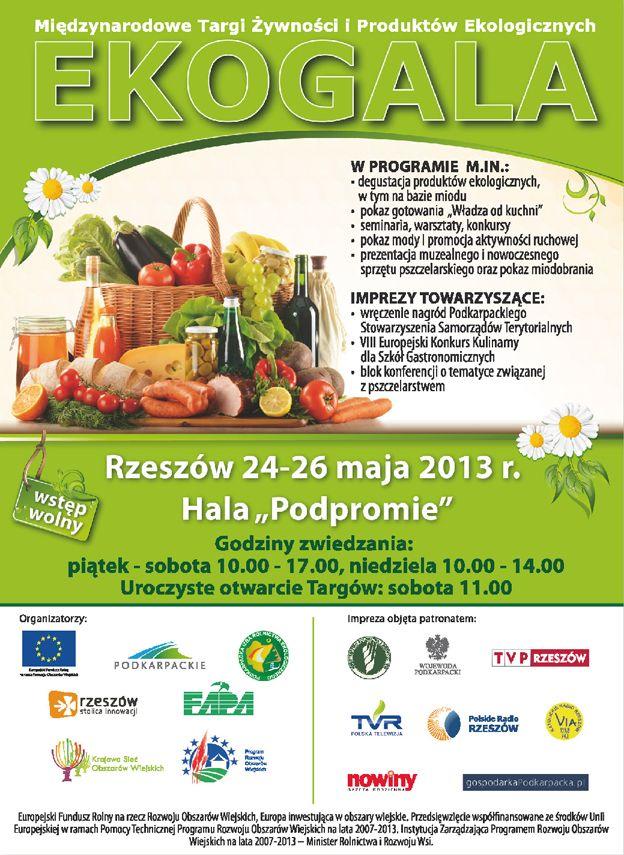 Projekty graficzne Międzynarodowych Targów Żywności i Produktów Ekologicznych Ekogala. Realizacja: Studio Zakład, www.zaklad.pl