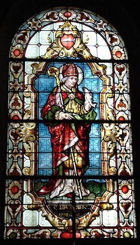 St Arnoul (582-641, fondateur de la dynastie des Arnulfiens, alliée des…