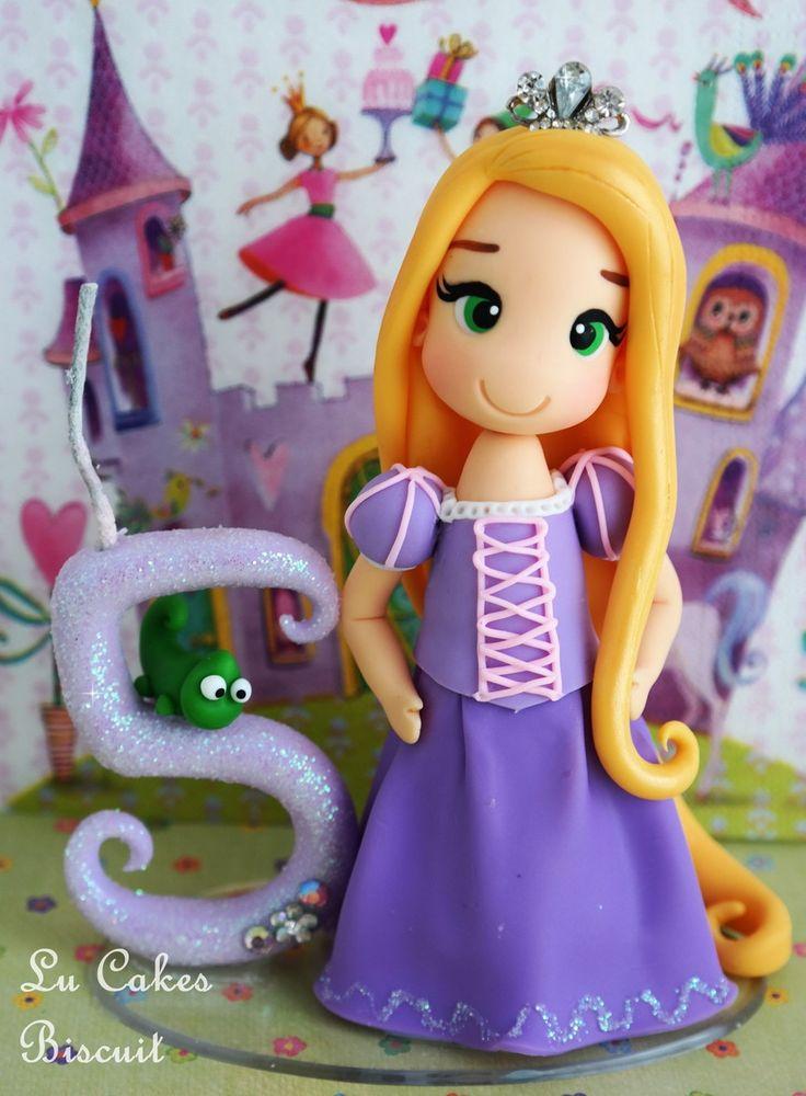Topo com vela mágica Rapunzel