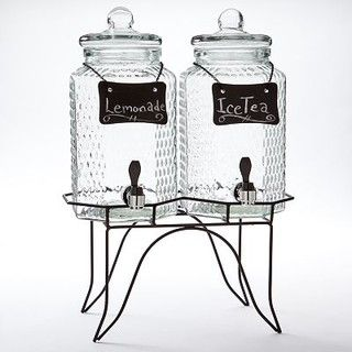 Home Essentials Double Jug Beverage Dispenser - traditional - serveware - by Kohl's