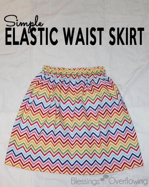 This tutorial will show you how to easily make a cute elastic waist skirt.