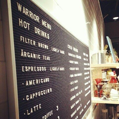 Looks like Warrior Coffee House got menu finally on the wall, how do you like it?
