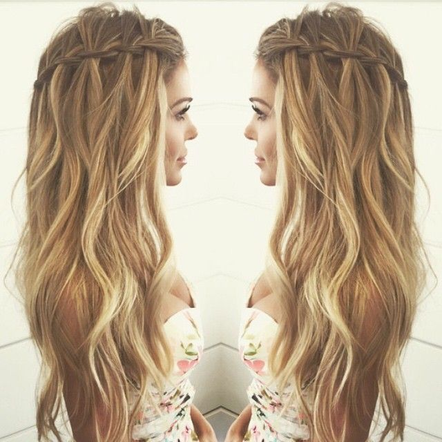 You can never go wrong with a waterfall braid.