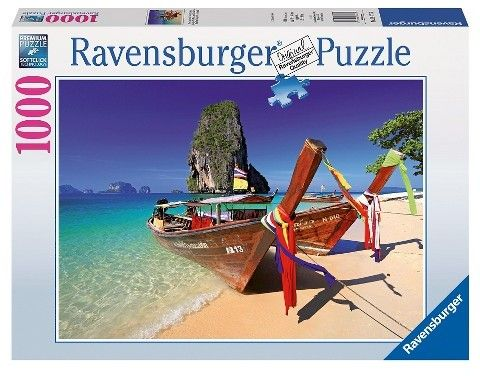 Ravensburger Caribbeam Boats 1000pc Puzzle
