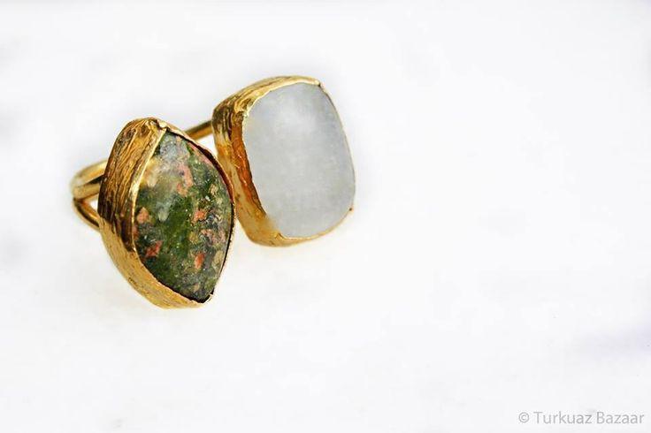 Mahfiruz ring in tourmaline & moonstone. SOLD