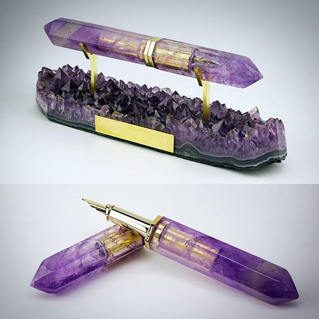 Amethyst Fountain Pen Partnership with ST Dupont Paris - DO WANT