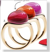 Pomellato Rings, $1,050. Clipped from Marie Claire using Netpage.