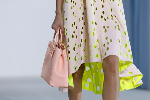 Christian Dior SS13. An unexpected pop of colour