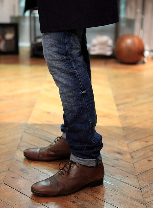 Boots + Jeans cuffed
