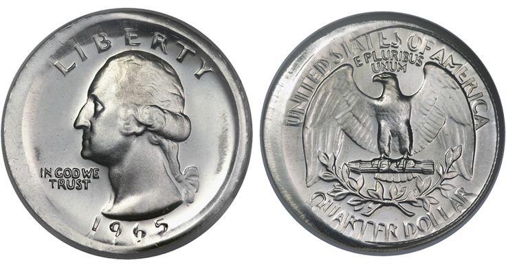 broadstruck 1965 Washington quarter dollar
