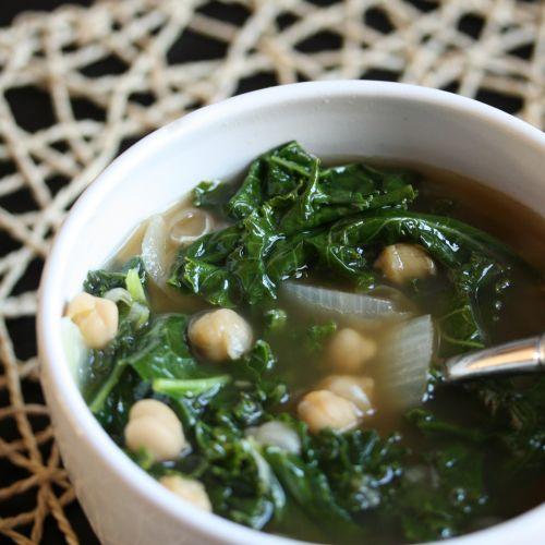 Deep Healing Chick Pea & Kale Soup. {Vegan Recipe}