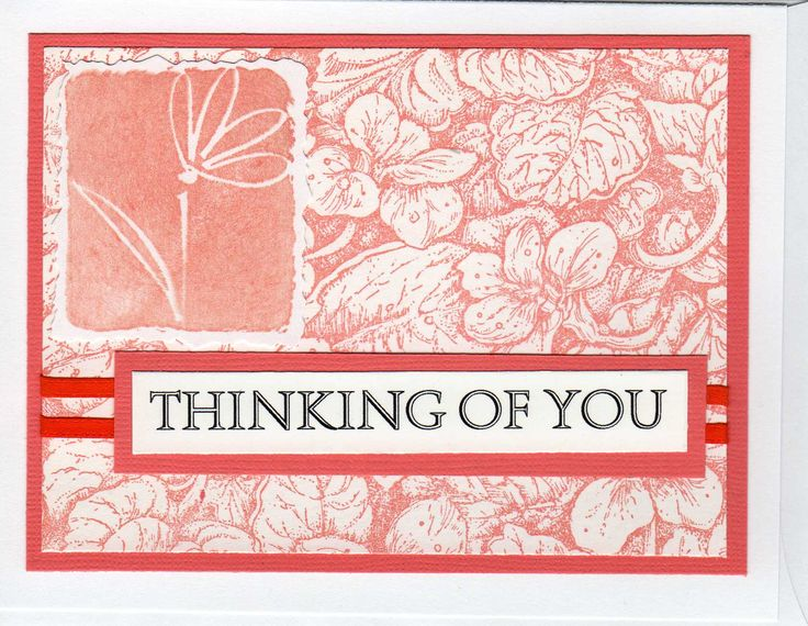 Clean and simple thinking of you | My Cards | Pinterest
