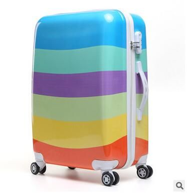 Women Travel Luggage Case Spinner suitcase Travel Rolling Case On Wheels 20  24 Inch Lady Travel  Wheeled Suitcase trolley bag