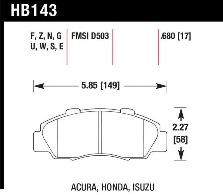 Hawk Front DTC-70 Race Brake Pads 91+ Honda Accord Civic