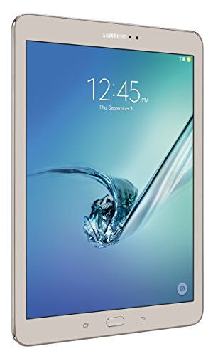 "Samsung Galaxy Tab S2 9.7″ (32GB, Gold)  Samsung Galaxy Tab S2 9.7"" (32GB, Gold) Built for ultra-fast performance, the thin and lightweight Samsung Galaxy Tab S2 goes anywhere you go. Photos, movies and documents pop on a crisp, clear Super AMOLED display. Expandable memory lets you enjoy more of your favorite content. And connecting and sharing between all your Samsung devices is easier than ever. Welcome to life with the reimagined Samsung Galaxy Tab S2. Watch the world come to lif.."