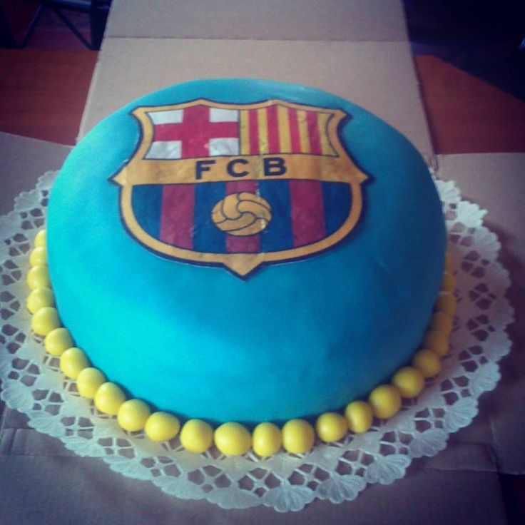 FCB Blue Barcelona football cake