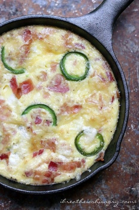 Jalapeno Popper Frittata - Low Carb and Gluten Free Recipe - I Breathe... I'm Hungry...