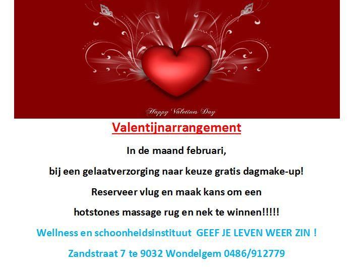 Actie februari  wellness en schoonheidsinstituut  GEEF JE LEVEN WEER ZIN! Zandstraat 7 te 9032 Wondelgem 0486/912779 of christa.petitje@telenet.be