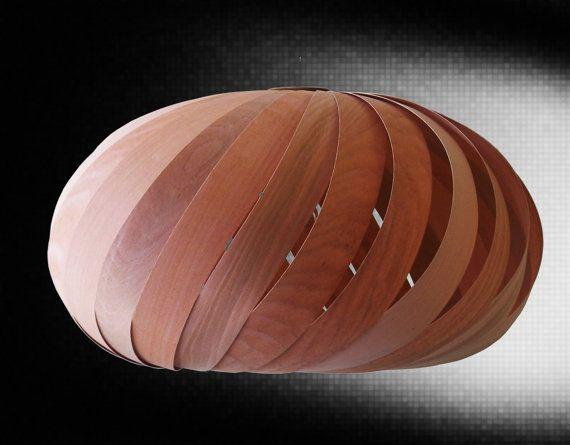 Wood Veneer Lamp Handmade by Alexanderlamps on Etsy, $195.00