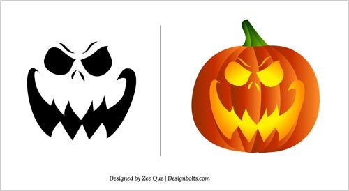 Halloween Free Scary Pumpkin Carving Patterns 2012 | 10 Scary Pumpkin Carving Templates | Design Bolts