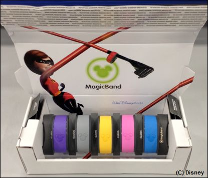 New, fully-recyclable packaging for MagicBands from the Walt Disney Travel Company.