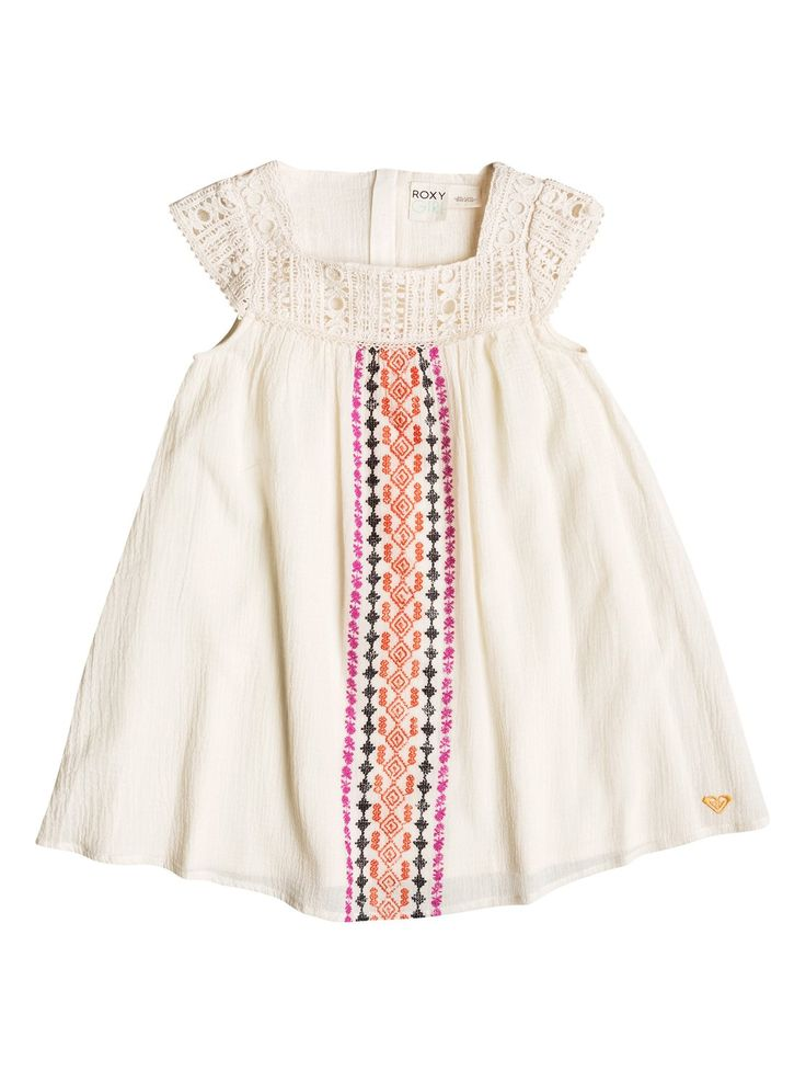 roxy, Baby Tiki Flair Dress, Whisper White (wcf0)