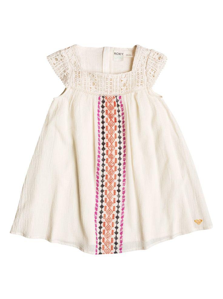 roxy, Baby Tiki Flair Dress, Whisper White (wcf0)