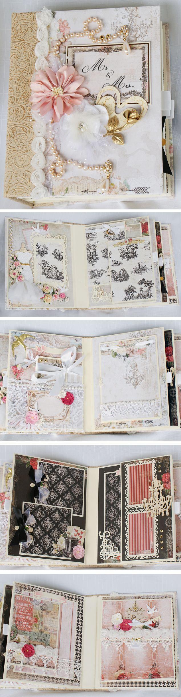 Wedding album  Custom Designed Scrapbook Album by Terry's Scrapbooks  https://www.facebook.com/TerrysScrapbooks