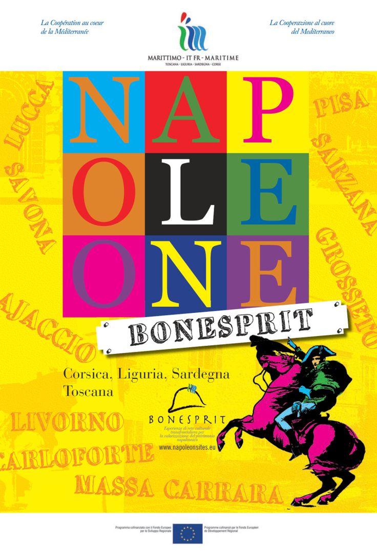 Copertina dell'opuscolo del progetto culturale transfrontaliero per la valorizzazione del patrimonio napoleonico.