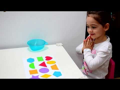 Learn Shapes and Colors - Montessori activities - toddlers kids play teaching methods fun education