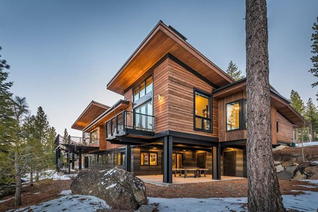 Beautiful Mountain Home In California Http Www Beautiful Houses Net 2017 12 Mountain Beautiful Homes Modern Mountain Home Mountain House Plans House Design