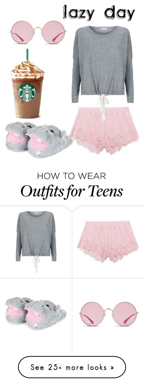 """""""Lazy Day"""" by naviere05 on Polyvore featuring Puma, Eberjey and Ray-Ban"""