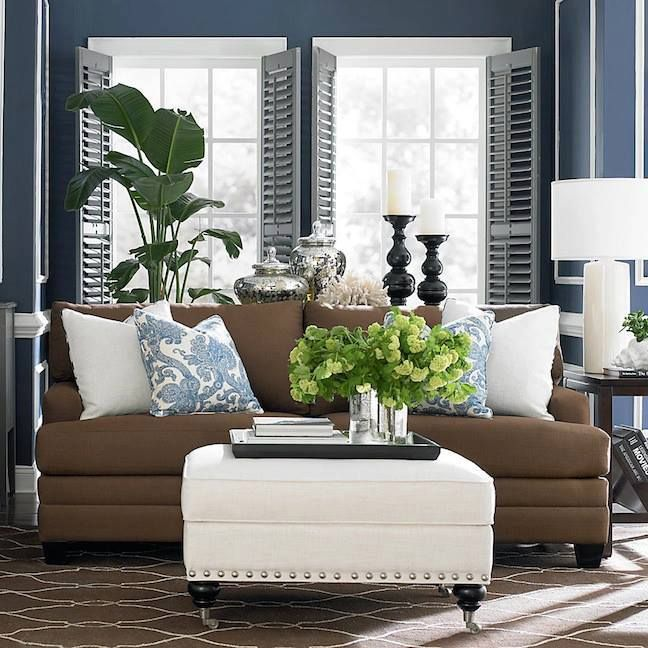 Brown And Blue Living Room Ideas: Blue And Brown Living Room