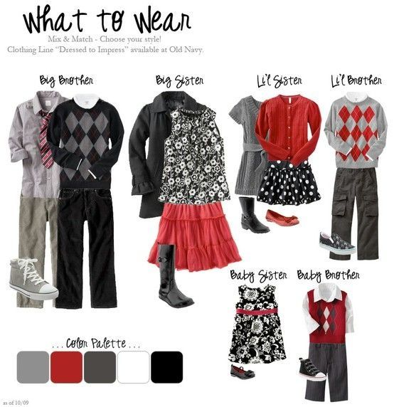 What to wear for family portraits by rivergurl