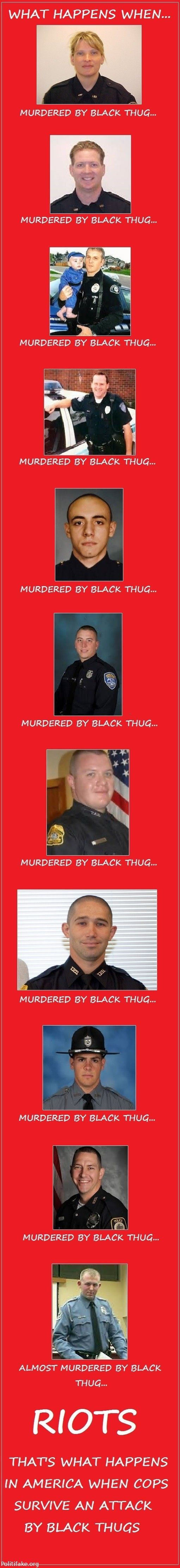 Cop almost murdered by Black Thug | OBAMA CARTOONS