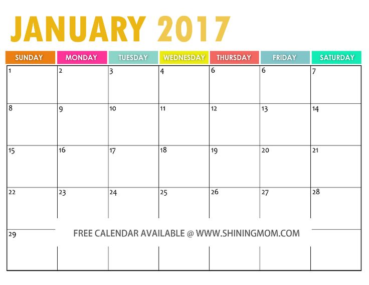 Best Free Printable  Calendars By Shining Mom Blog Images
