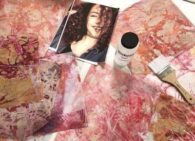 Gel Press Prepared Surfaces Portrait with Trish McKinney