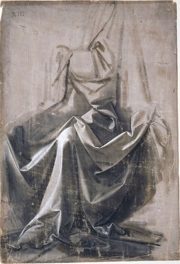 Leonardo da Vinci. Drapery Study, 1470-1479