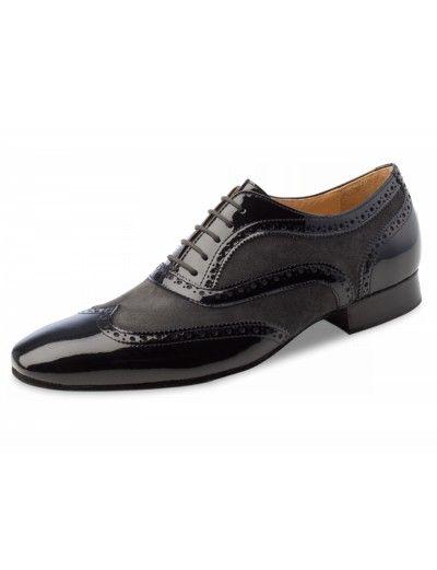 Chaussures de danse noir et grise, Domingo Nueva Epoca en cuir