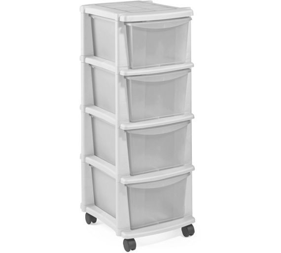 Buy HOME Keter 4 Drawer Plastic Tower Storage Unit - White at Argos.co.uk - Your Online Shop for Plastic storage boxes and units, Storage, Home and garden.