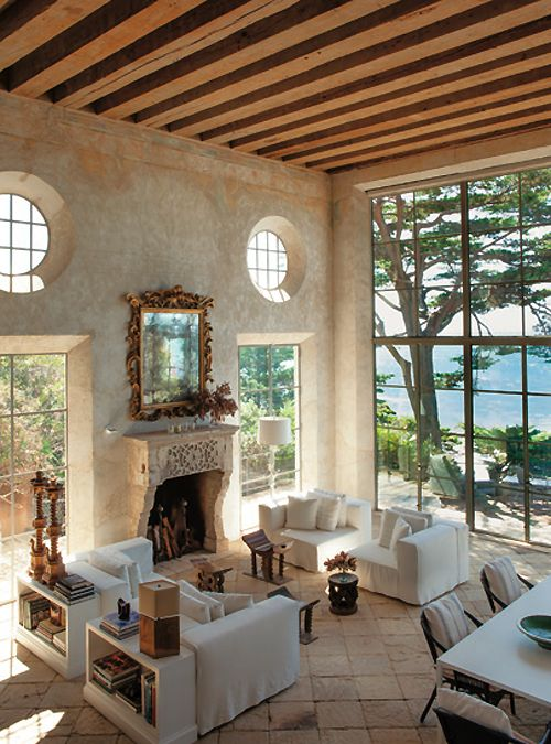 Room with a view - Love the windows & ceiling.
