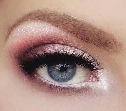 Pink smokey eye for fair skin #eyeshadow