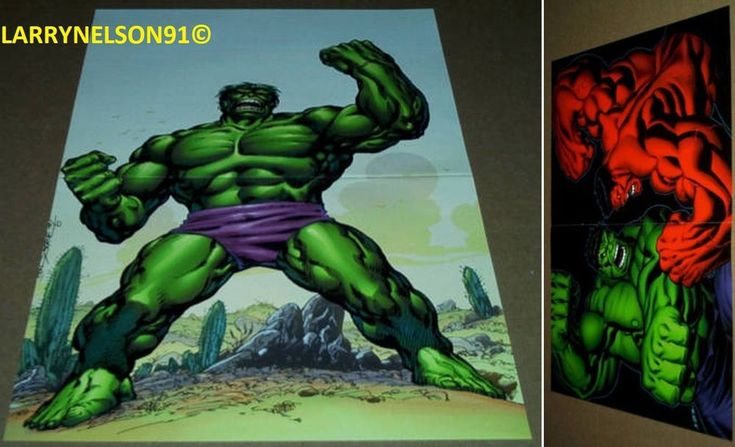 GREEN VS RED HULK POSTER #6 JOHN BYRNE MARVEL BRUCE BANNER GENERAL ROSS SMASH NY