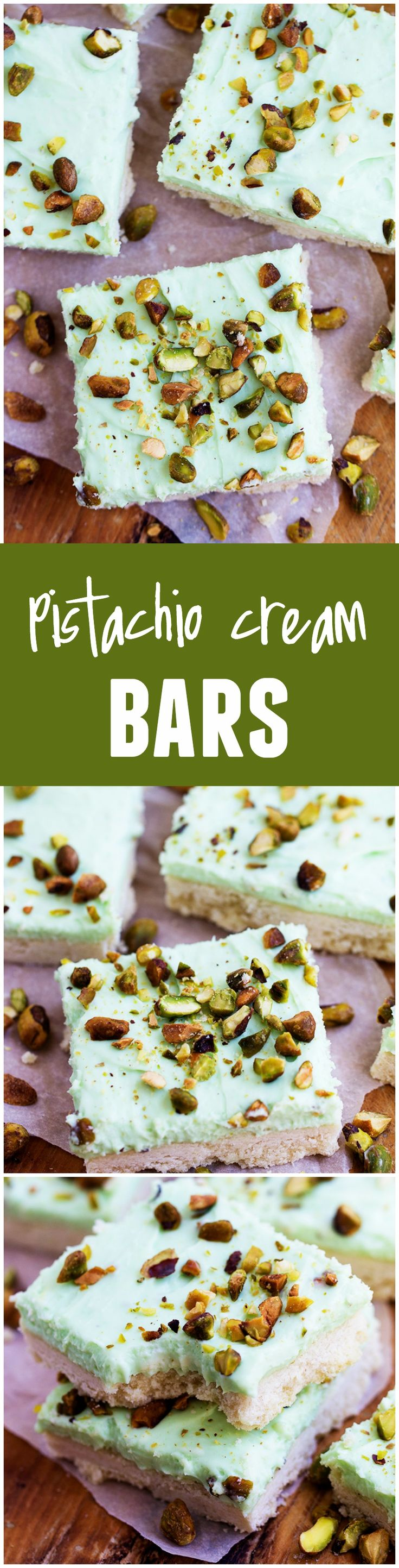 These Pistachio Cream Bars will be the star of your next potluck! Creamy and AMAZING!!