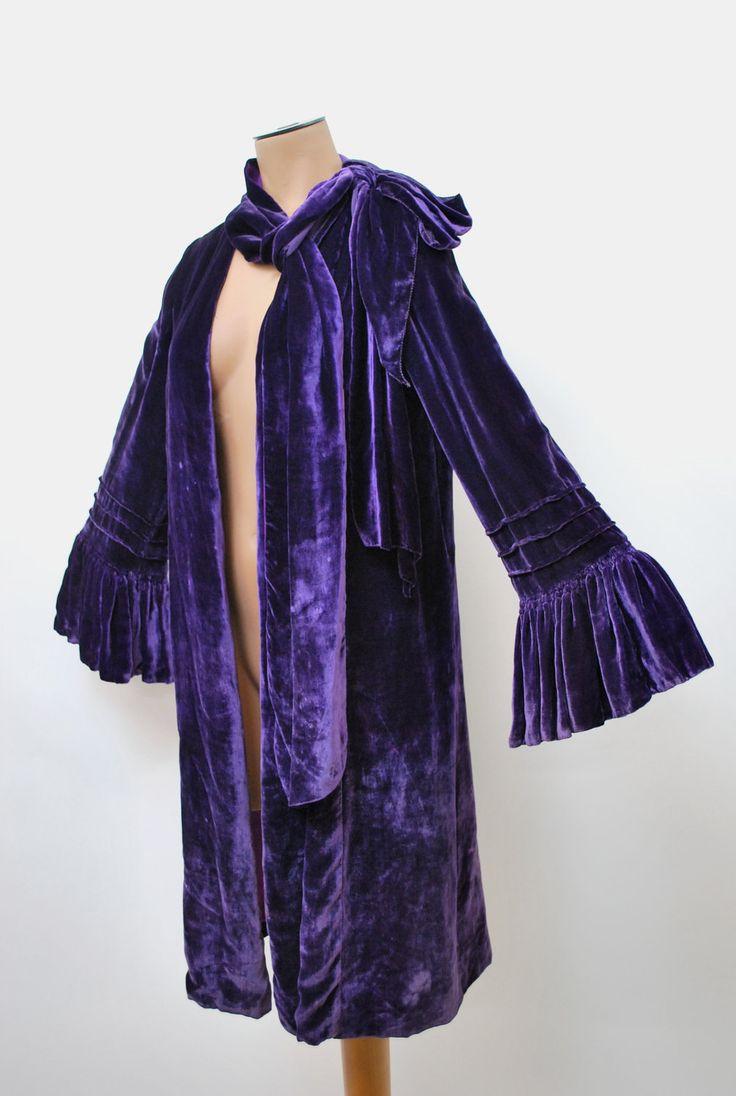 Purple velvet jacket, 1920's.