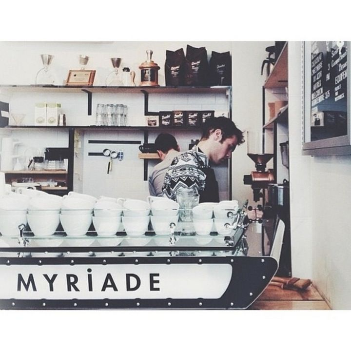 With coffee from 49th Parallel Roasters, pastries from independent local bakers, and easy access to must-have men's goods in attached boutique Savoie Fils, Cafe Myriade is well worth a visit. #etsy #cityguide #montreal