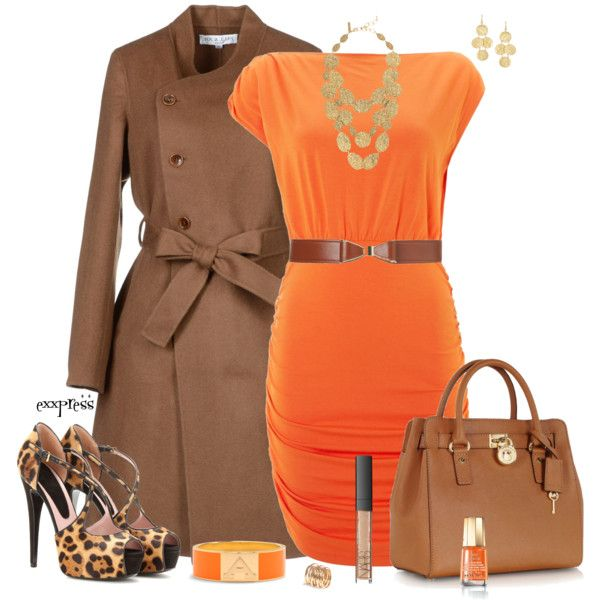 Business Outfit In Classy Style With Orange And Brown