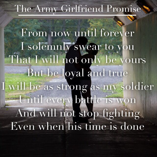 The Army Girlfriend Promise