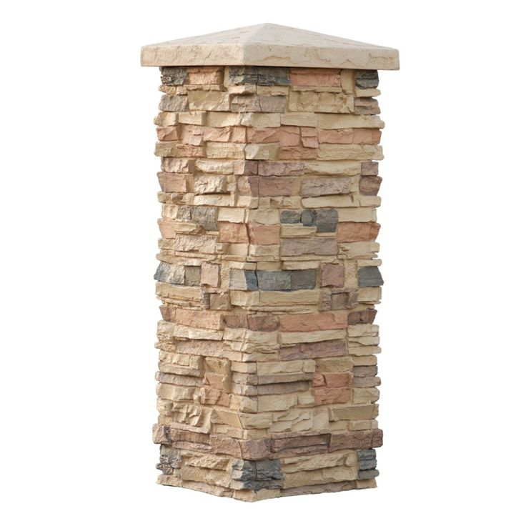 Stone Columns Wraps Kits : Faux stone column wraps with easy install kit pole wrap